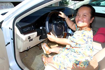 người khuyết tật được lái ô tô không