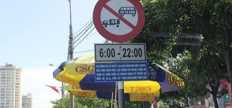 mức phạt xe tải đi vào giờ cấm